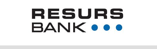 Vi erbjuder avbetalning via resurs bank